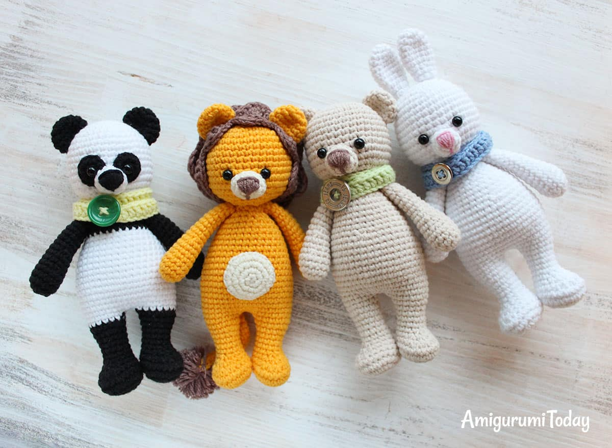 9 Crochet Panda Patterns – Cute Amigurumi Bear Toys - A More ... | 879x1200