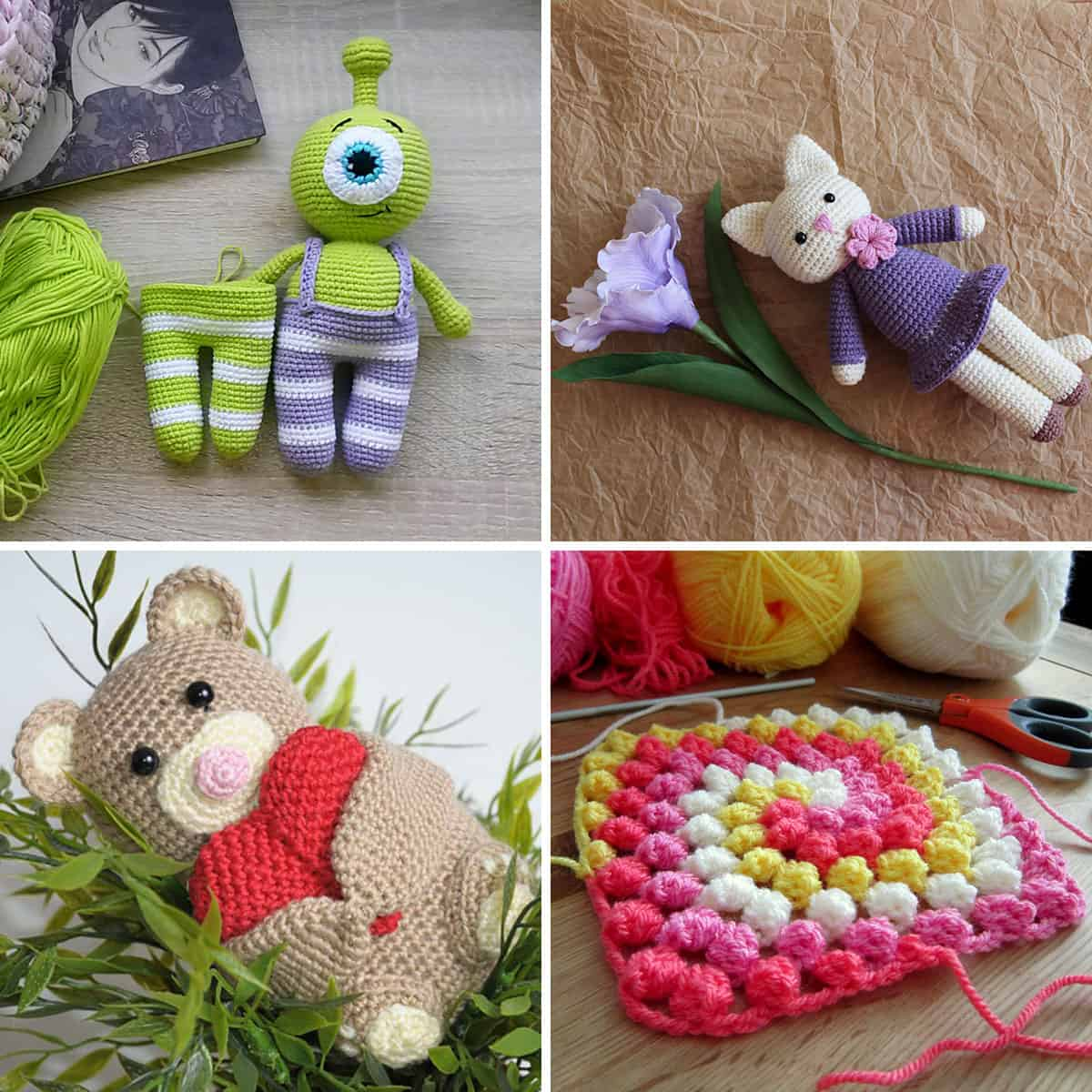 Easy crochet patterns and projects