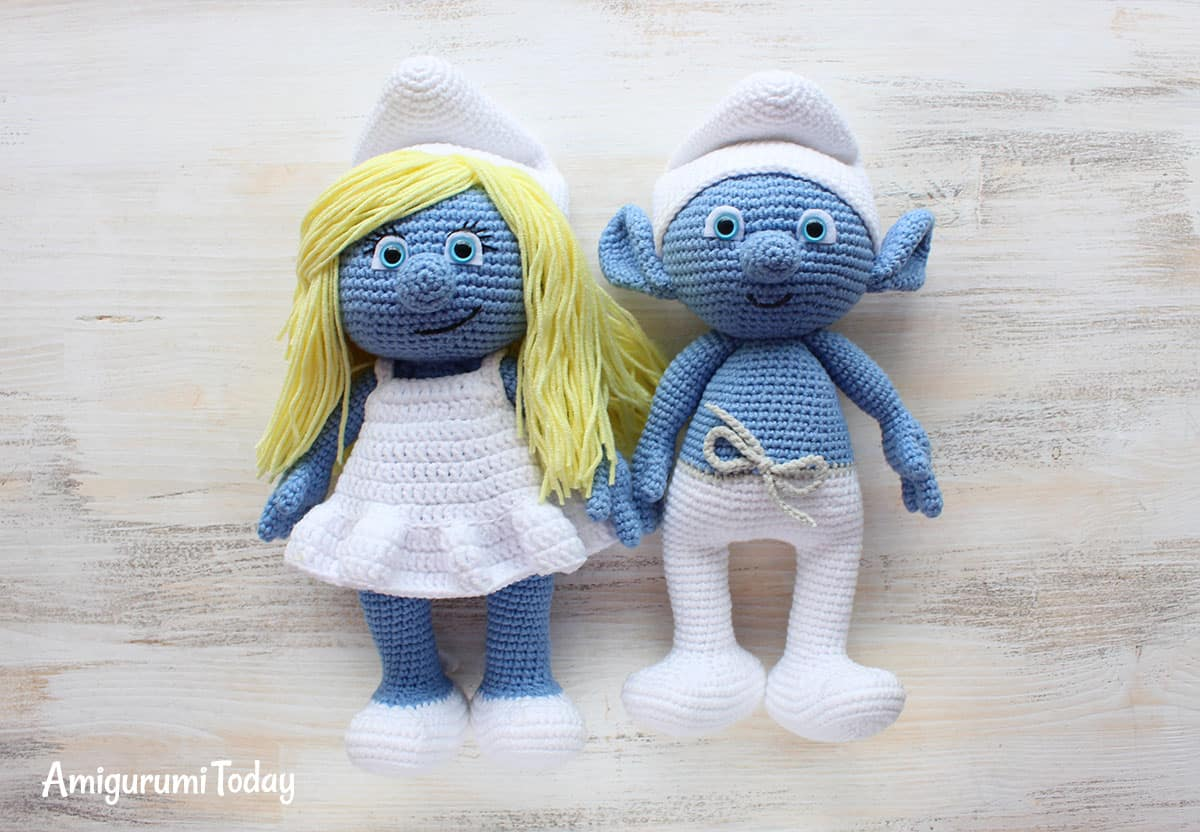 Smurf and Smurfette crochet patterns