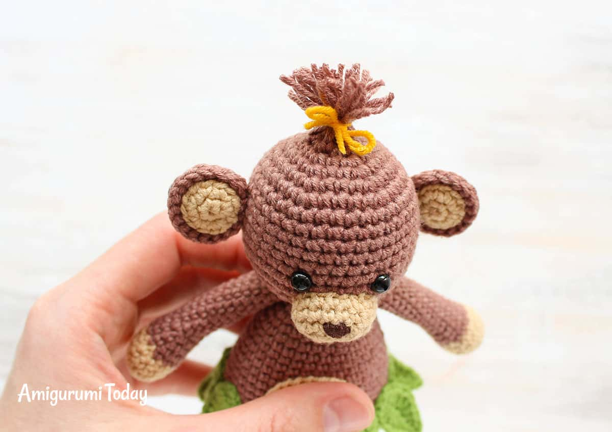 Crochet monkey pattern - Cuddle Me Toy Series - Amigurumi Today