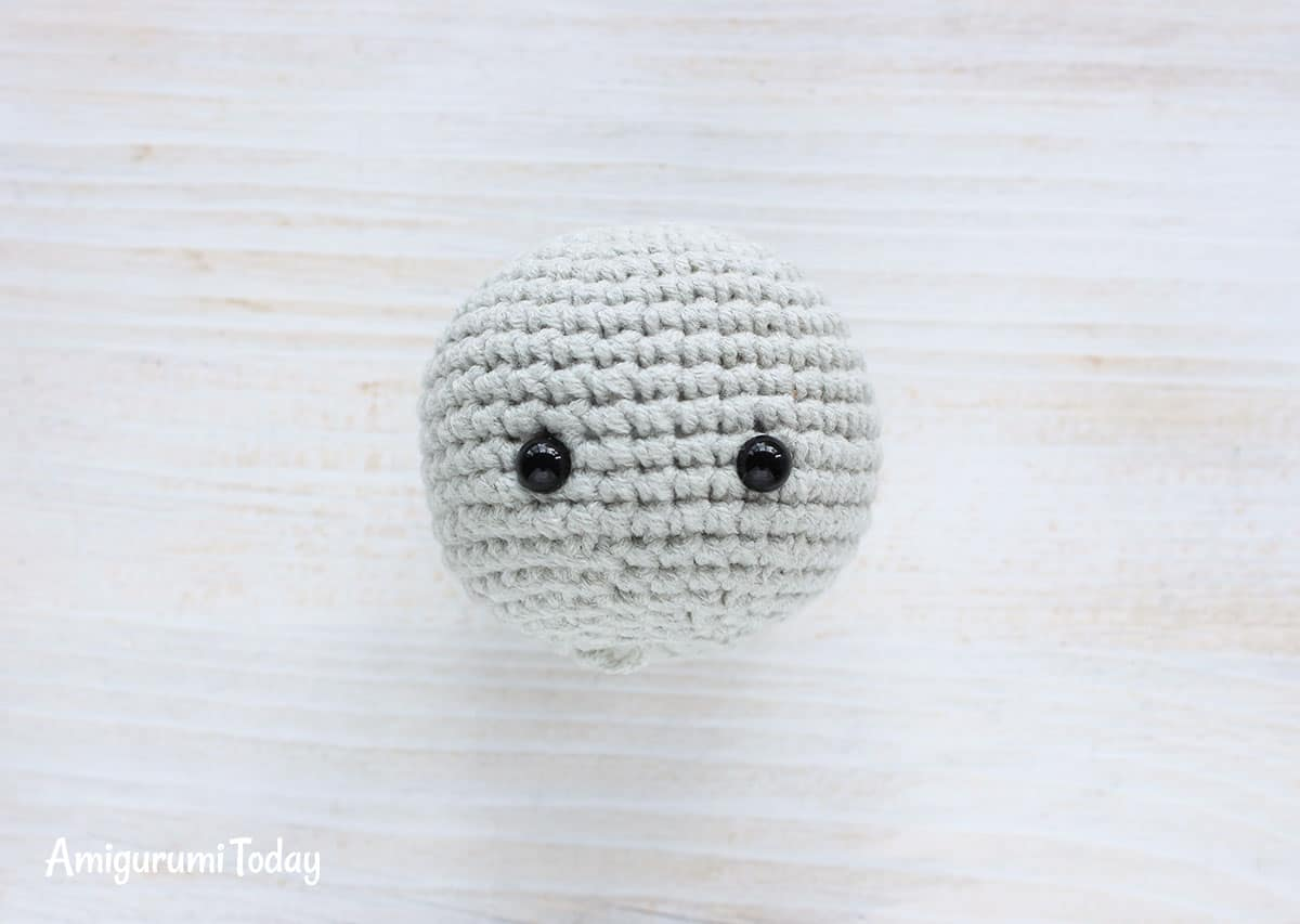 Cuddle Me Elephant Crochet Pattern - head