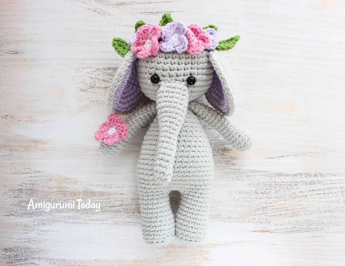 Cuddle Me Elephant Crochet Pattern