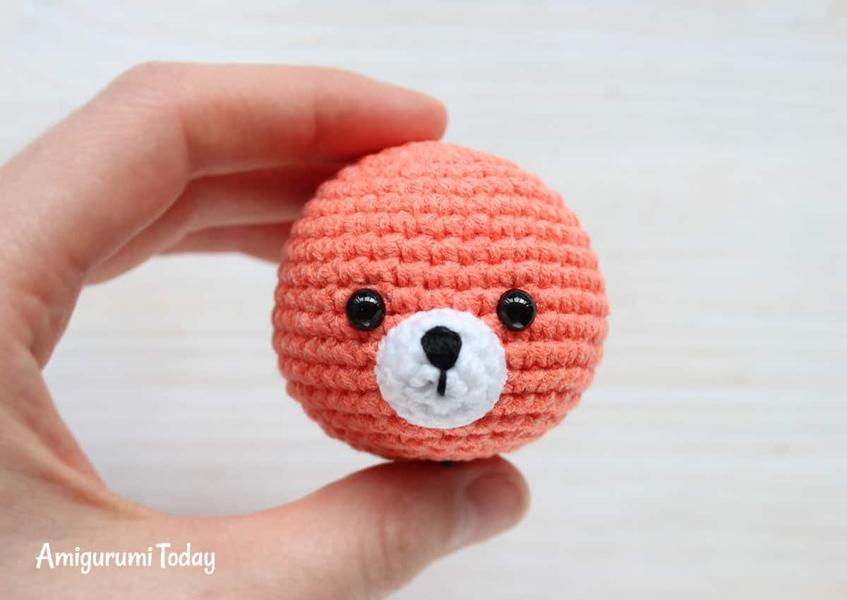 Cuddle Me Fox Amigurumi Pattern - muzzle