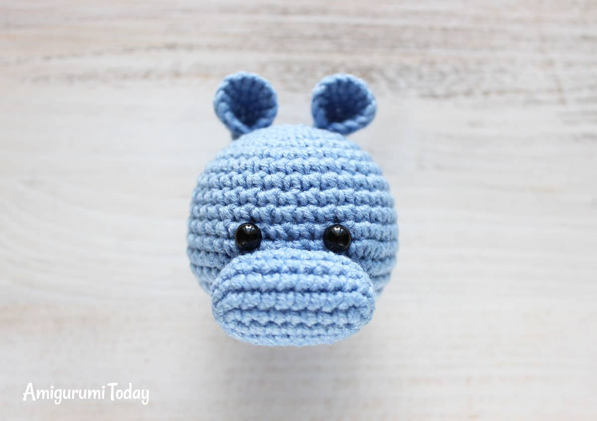 Cuddle Me Hippo amigurumi pattern - assembly