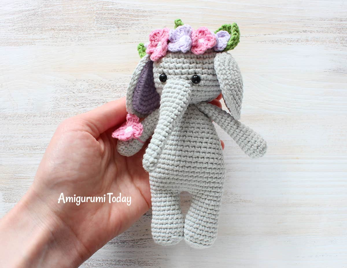 Free Cuddle Me Elephant Crochet Pattern