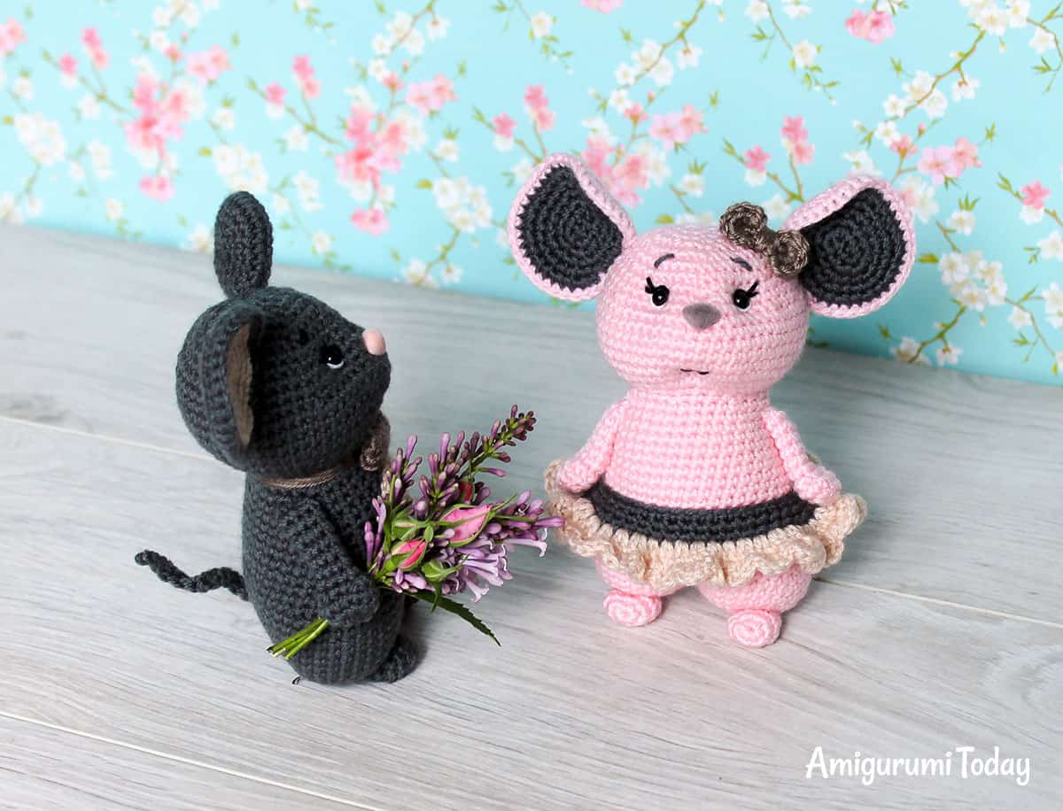Mouse couple - Free amigurumi pattern by Amigurumi Today