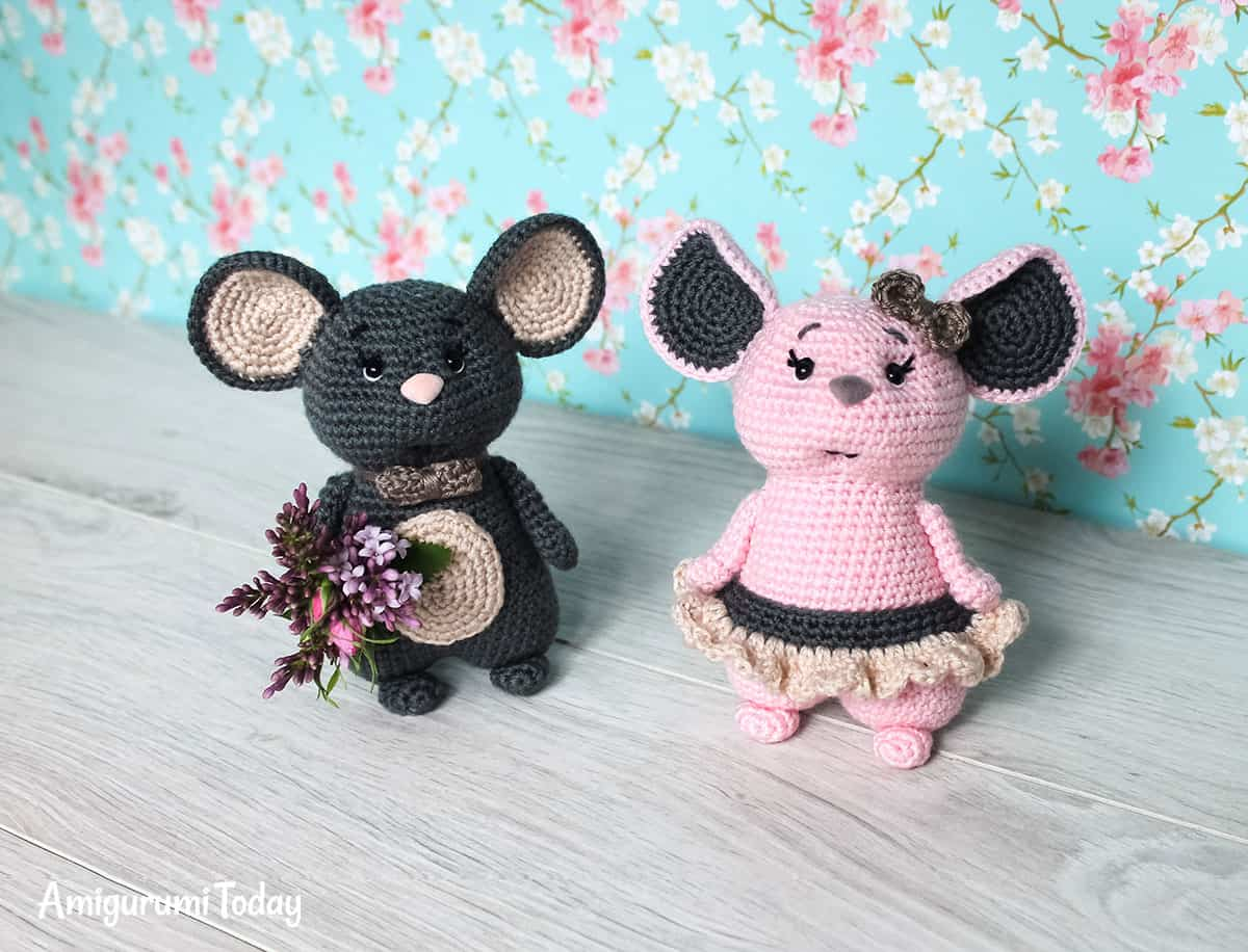 Mouse couple - Free crochet pattern by Amigurumi Today