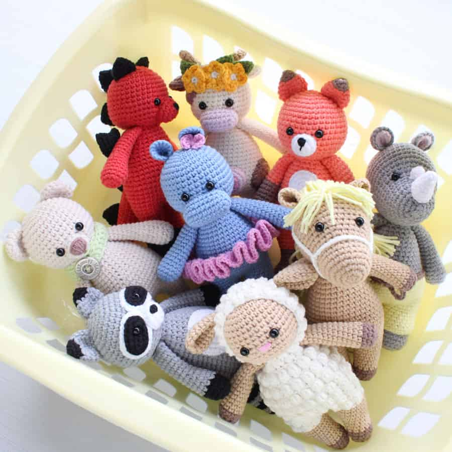 Semi-cotton yarn for amigurumi toys