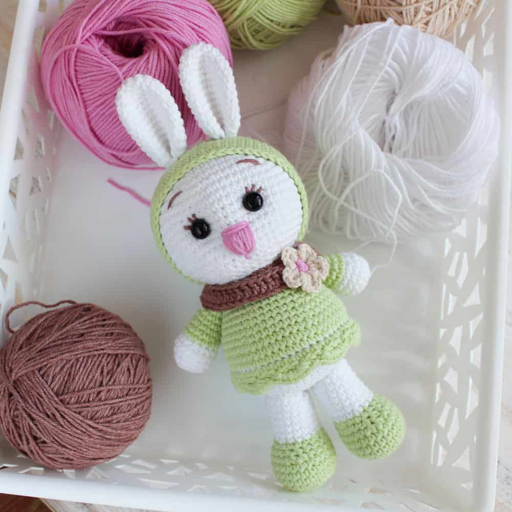 Velvet Bunny Amigurumi Free Crochet Pattern - Crochet For You | 1000x1000