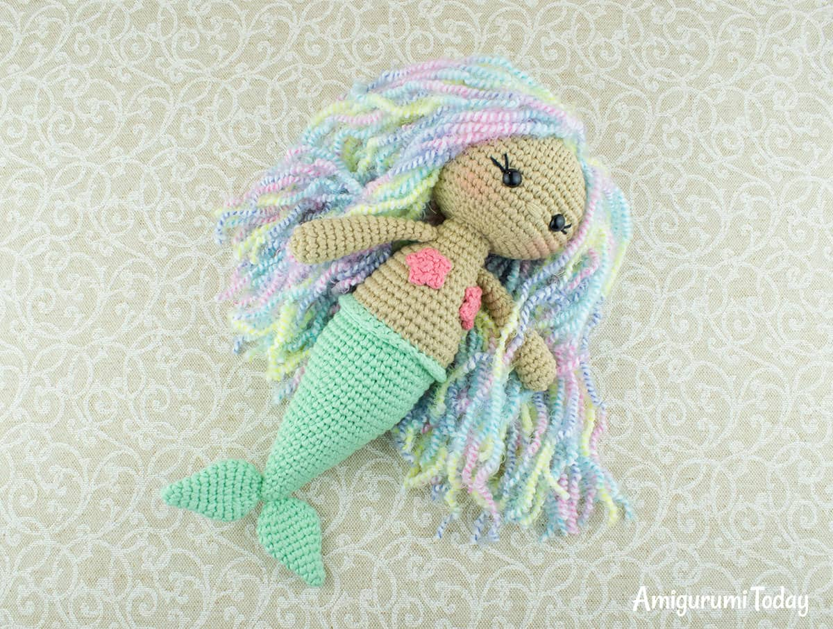 Aurora Mermaid amigurumi pattern