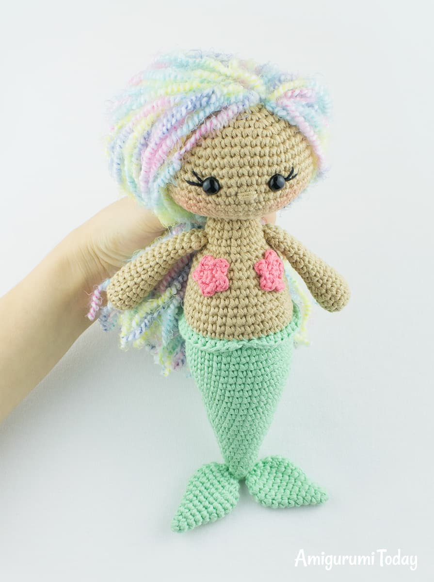 Aurora Mermaid crochet pattern by Amigurumi Today