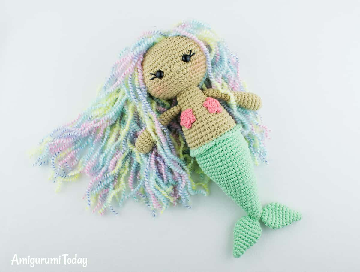 Free Aurora Mermaid crochet pattern by Amigurumi Today
