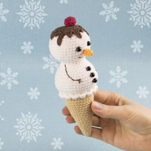 Crochet Ice Cream Snowman - Free amigurumi pattern by Amigurumi Today