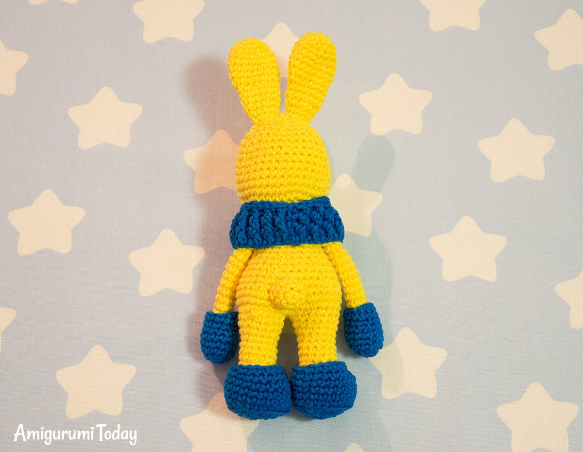 Crochet bunny with snood and mittens