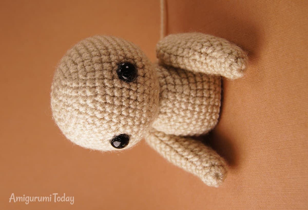Crochet cake bear pattern - crocheting body