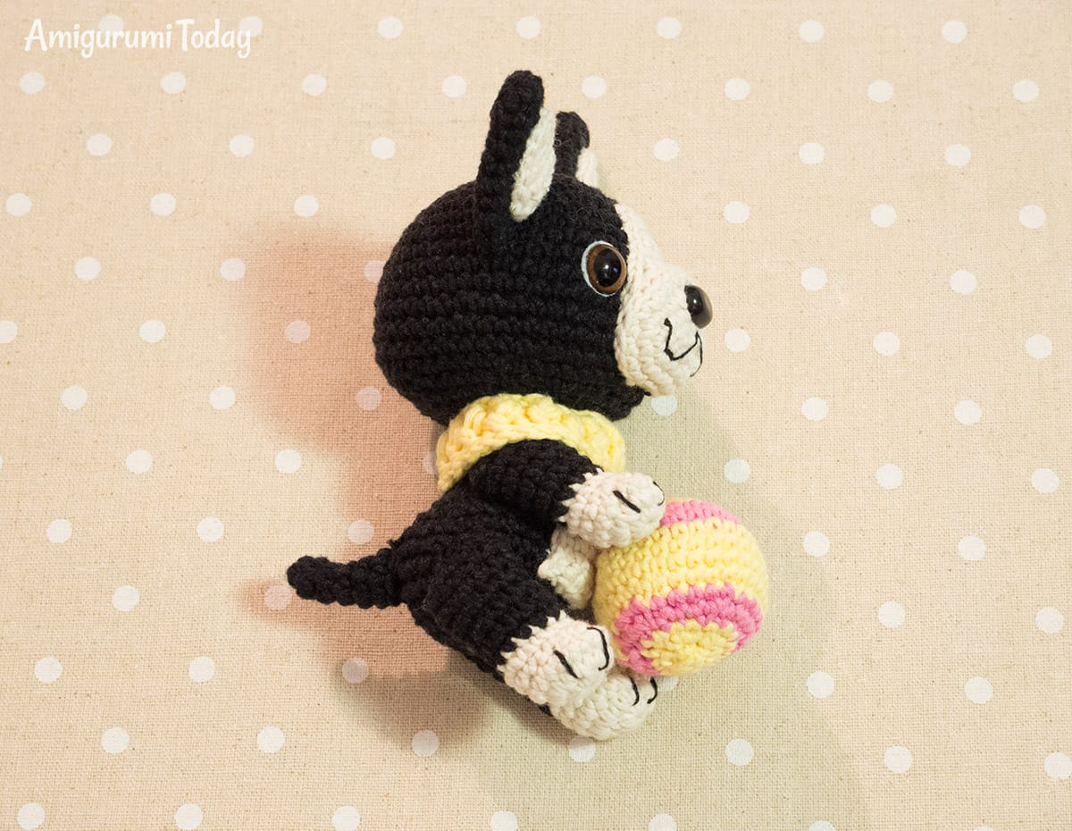Amigurumi Boston Terrier Puppy crochet pattern