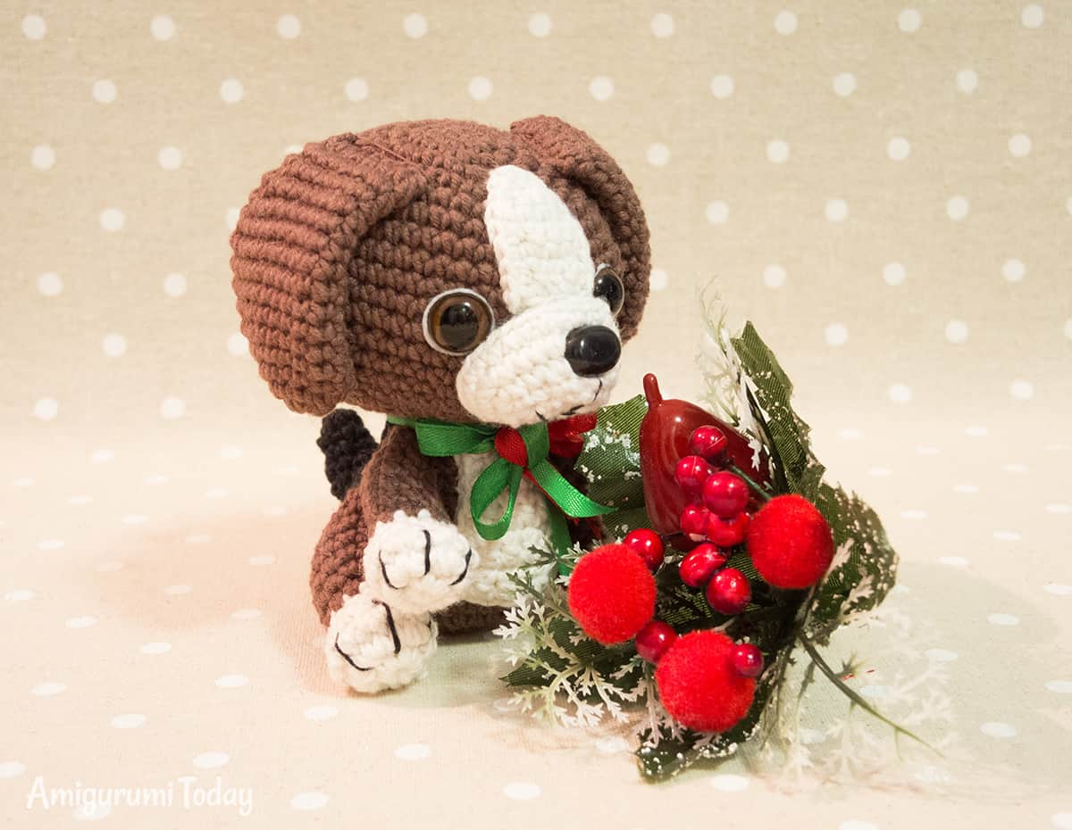 Beagle puppy - Free amigurumi pattern by Amigurumi Today