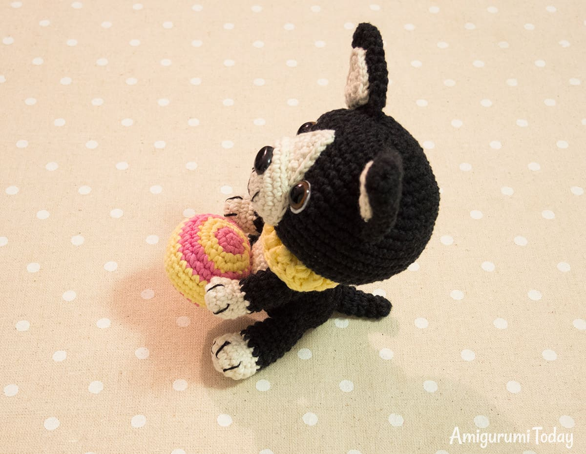 Boston terrier puppy crochet pattern