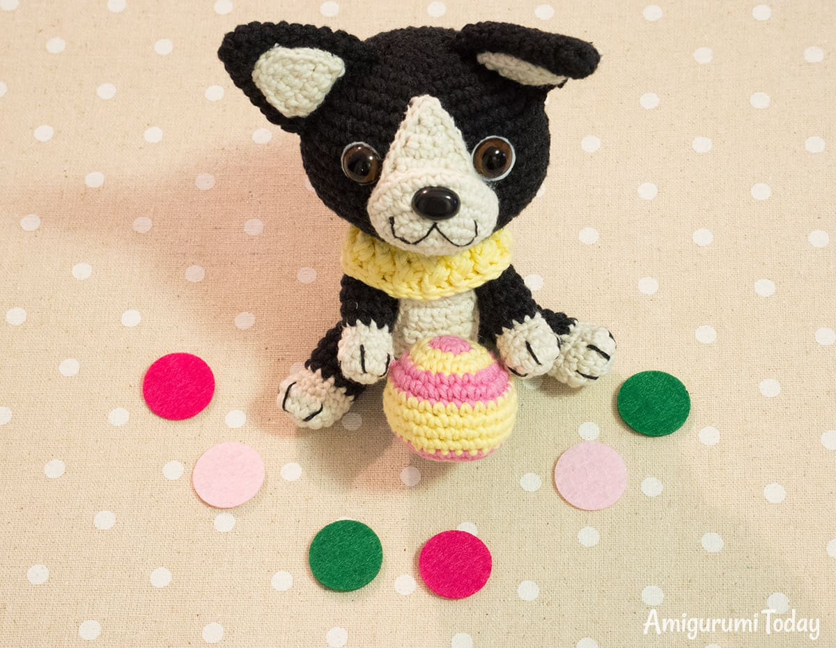 Free Boston Terrier Puppy crochet pattern by Amigurumi Today