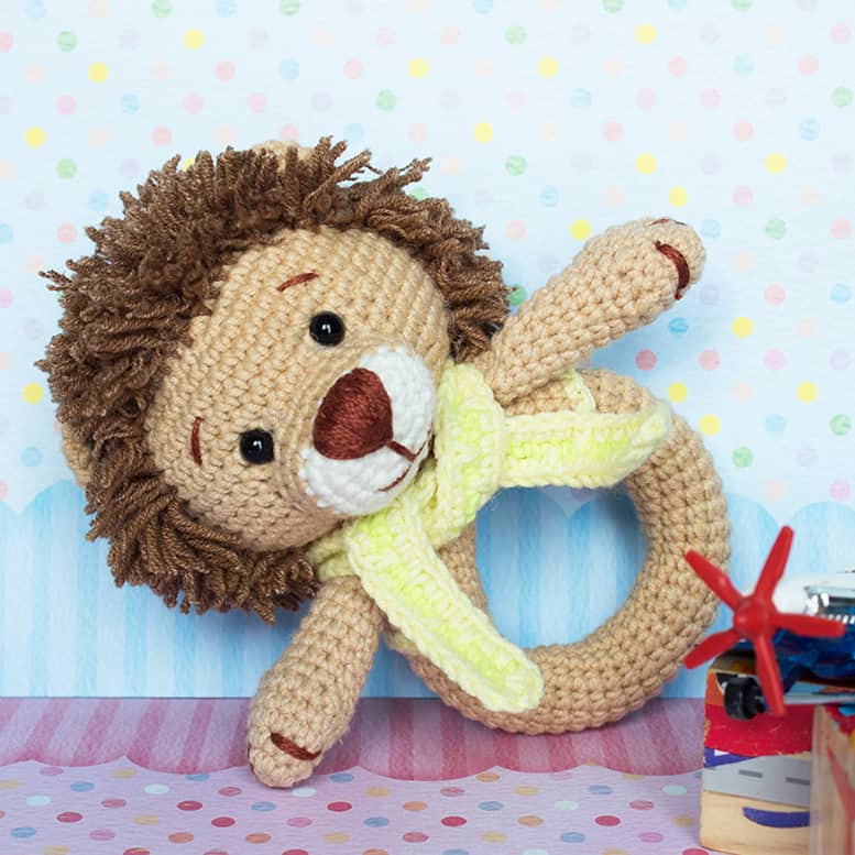 Amigurumi Lion Baby Rattle crochet pattern