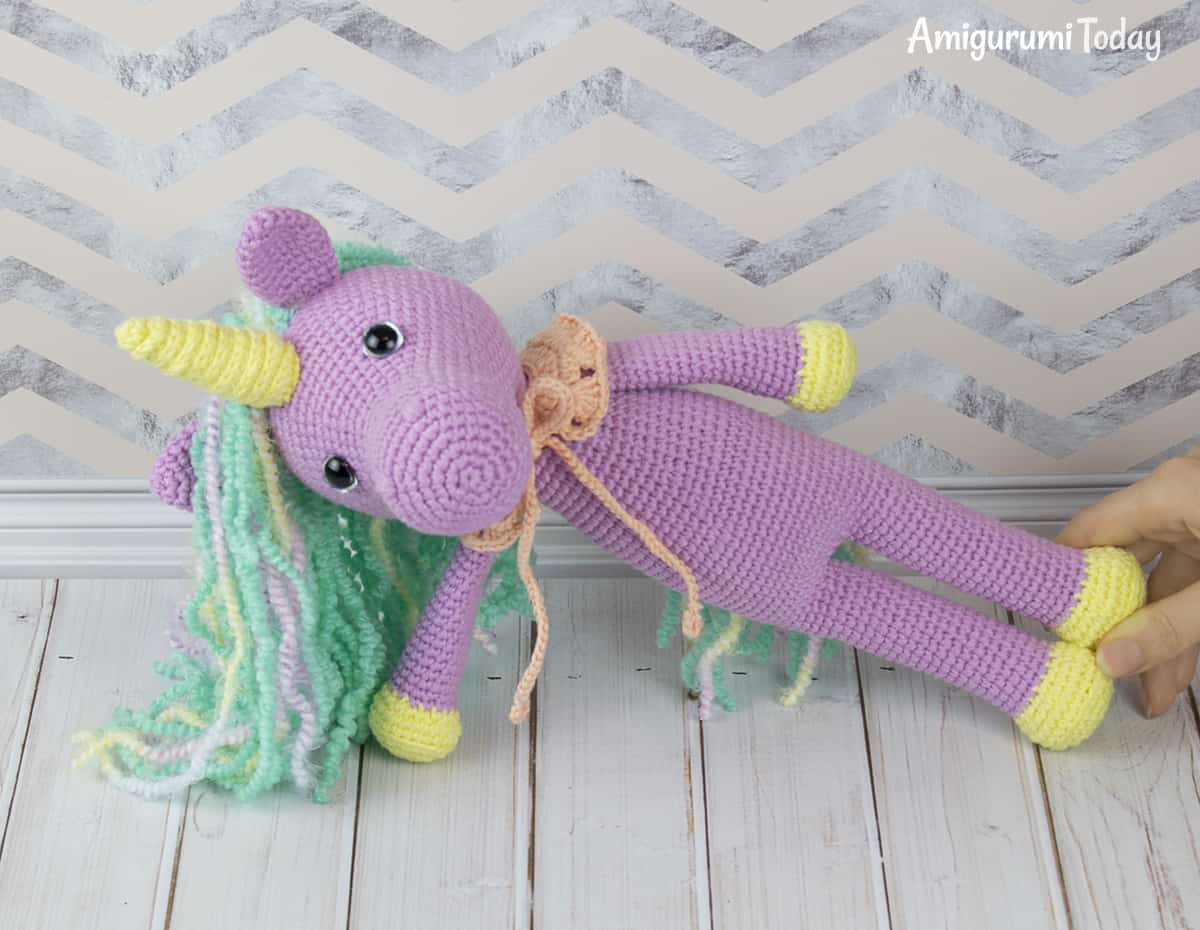 Crochet Shy Unicorn pattern by Amigurumi Today