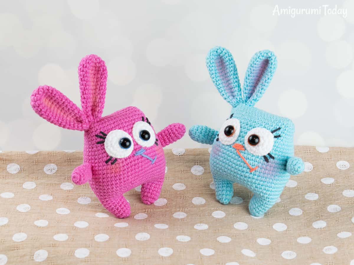 Easter bunny amigurumi pattern by Amigurumi Today