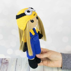 Amigurumi doll in Minion costume - Free crochet pattern by Amigurumi Today