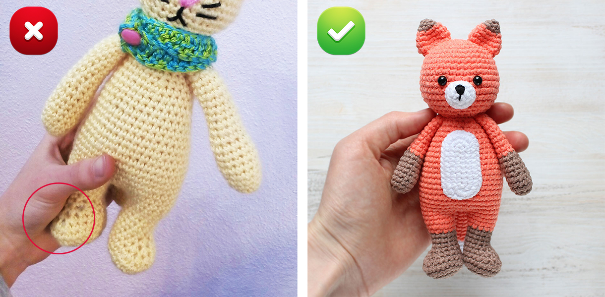 Crochet Tips - How To Avoid Gaps When Crocheting Amigurumi