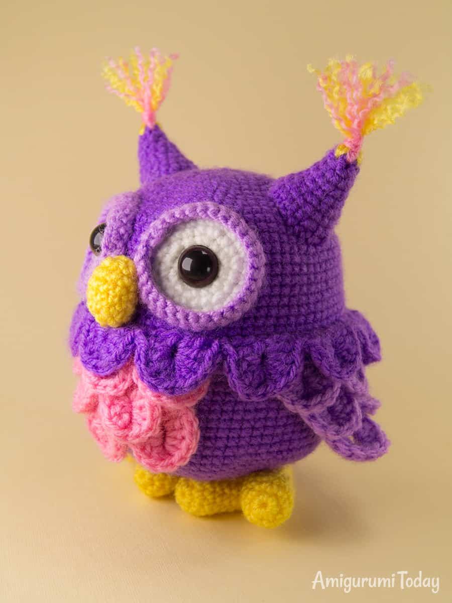 Crochet owl pattern by Amigurumi Today