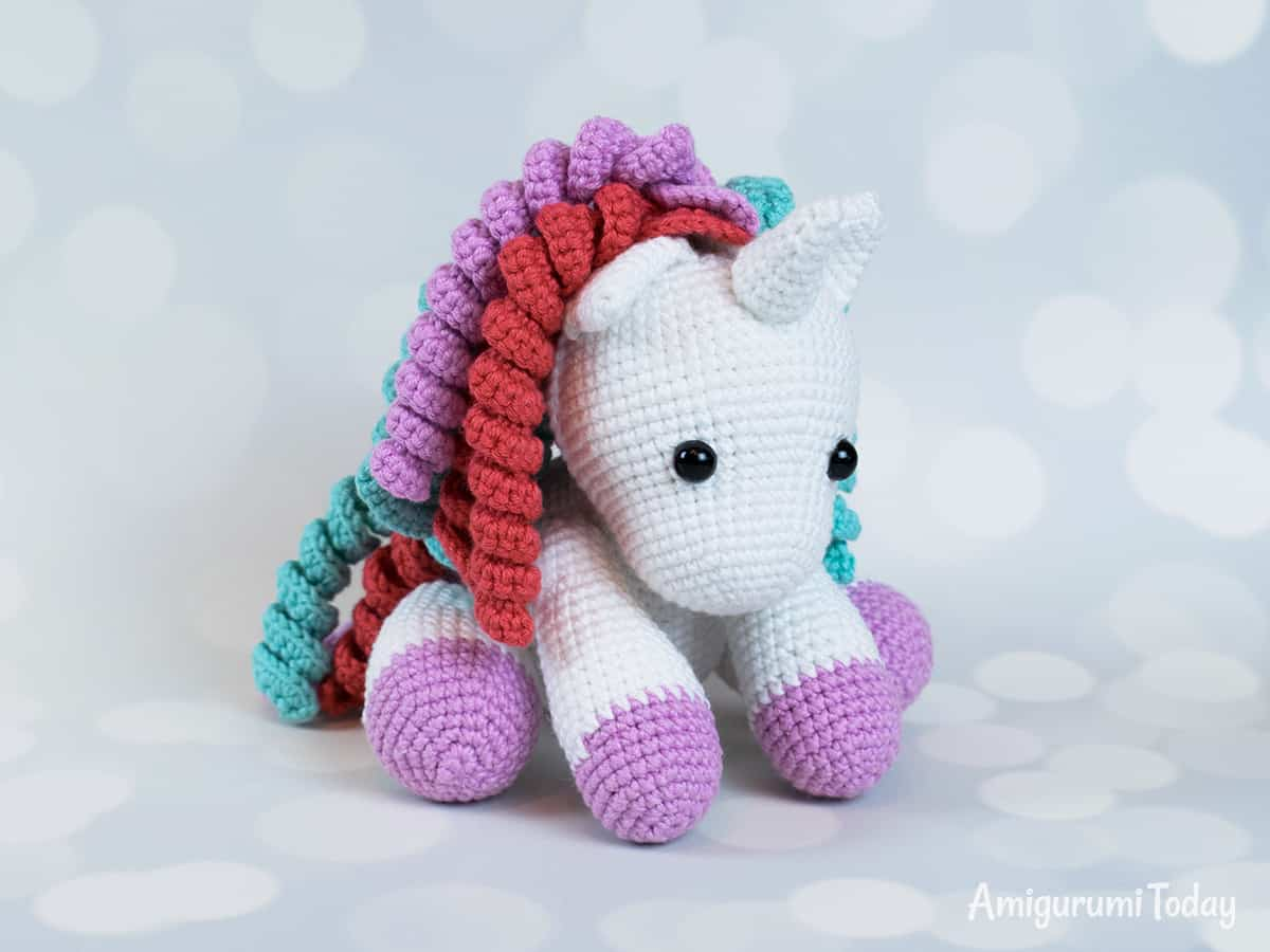 Baby unicorn amigurumi pattern - Amigurumi Today