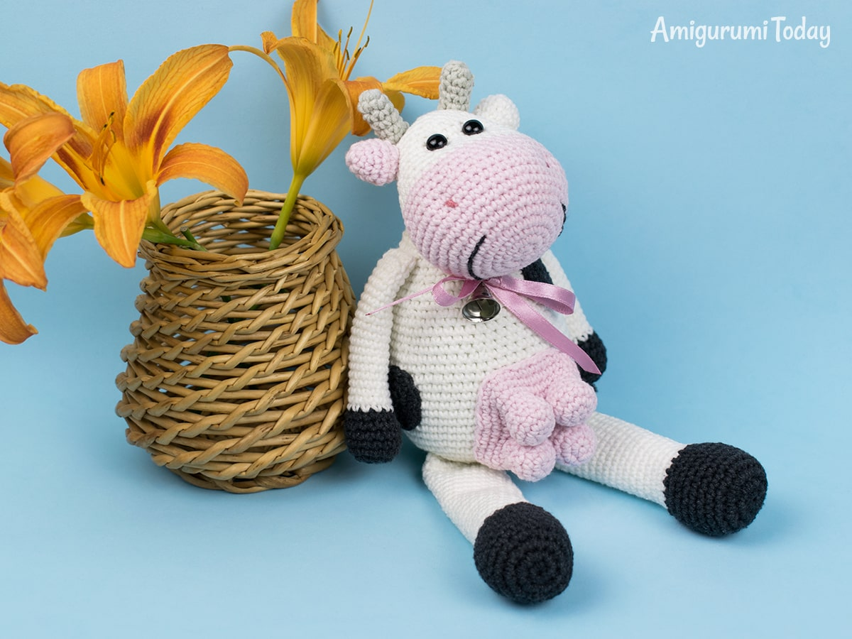 Alpine Cow crochet pattern designed by Amigurumi Today
