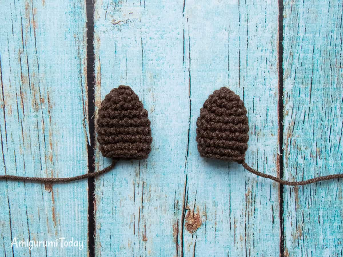 Farm Horse crochet pattern - Ears