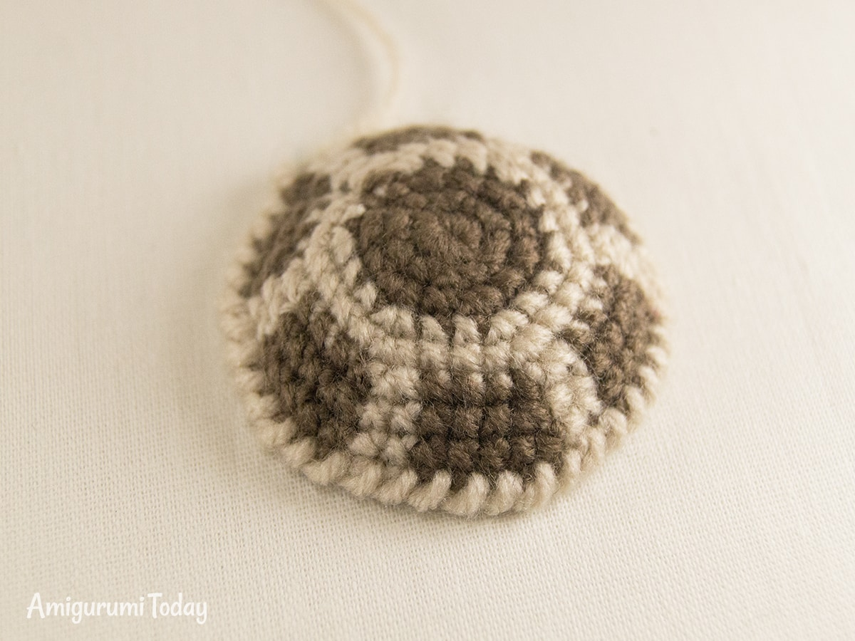 Dreamy Turtle amigurumi pattern - Back shell