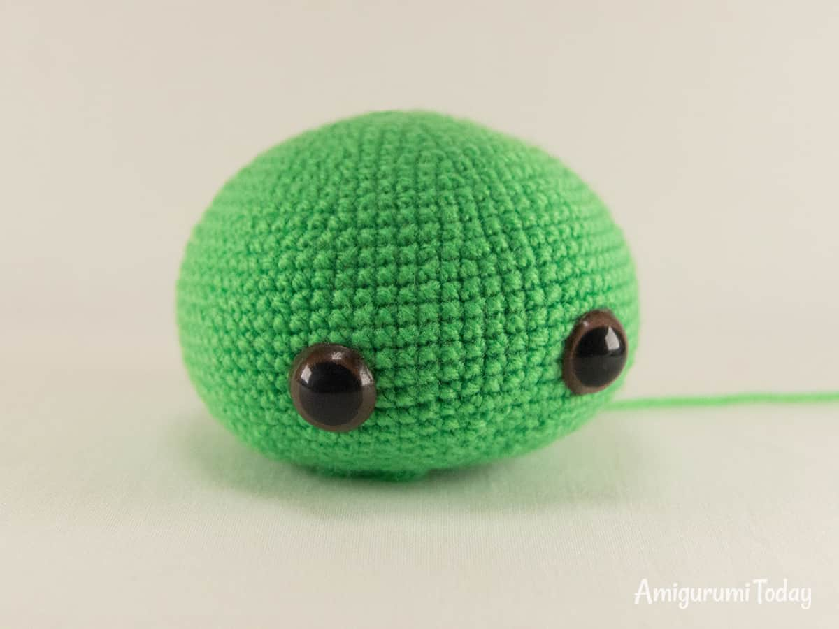 Dreamy Turtle amigurumi pattern - Head