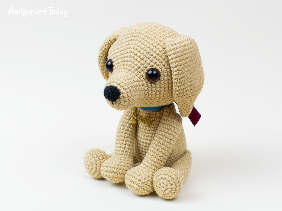 Crochet Dog Pattern With Floppy Ears Puppy by sewprettypatterns ... | 900x1200