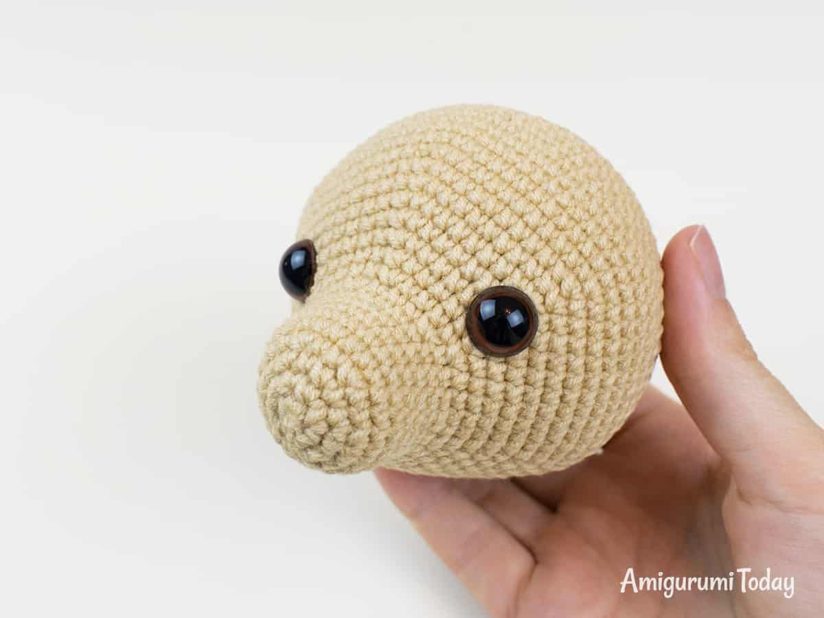 Lucky puppy amigurumi pattern - Head
