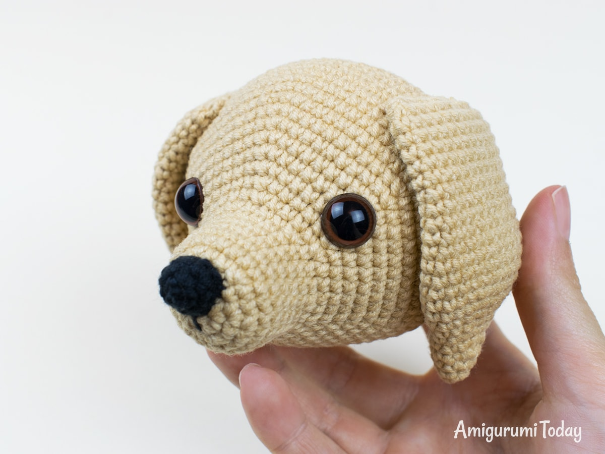 Lucky puppy crochet pattern - Head