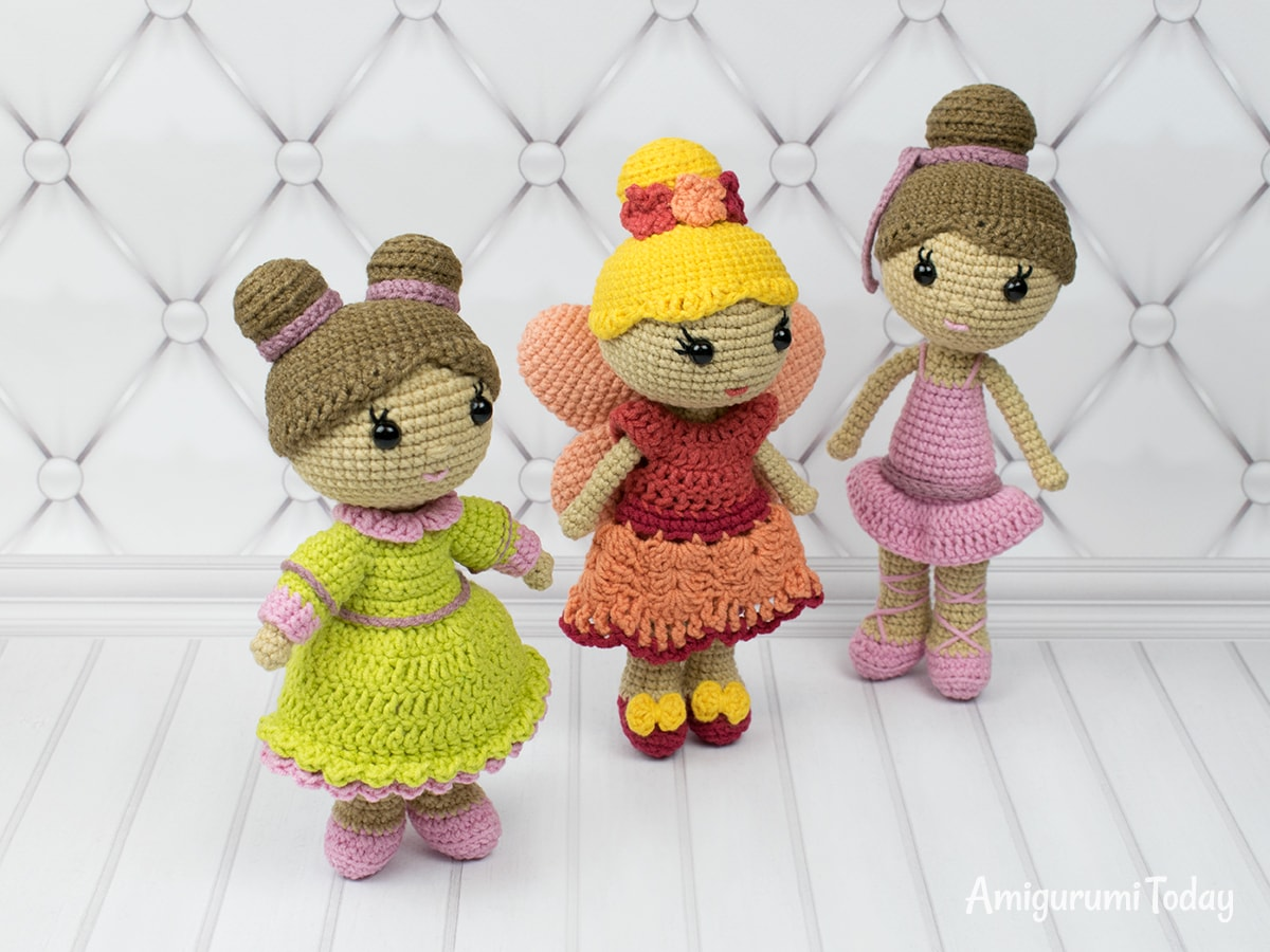 Amigurumi lady doll crochet pattern by Amigurumi Today