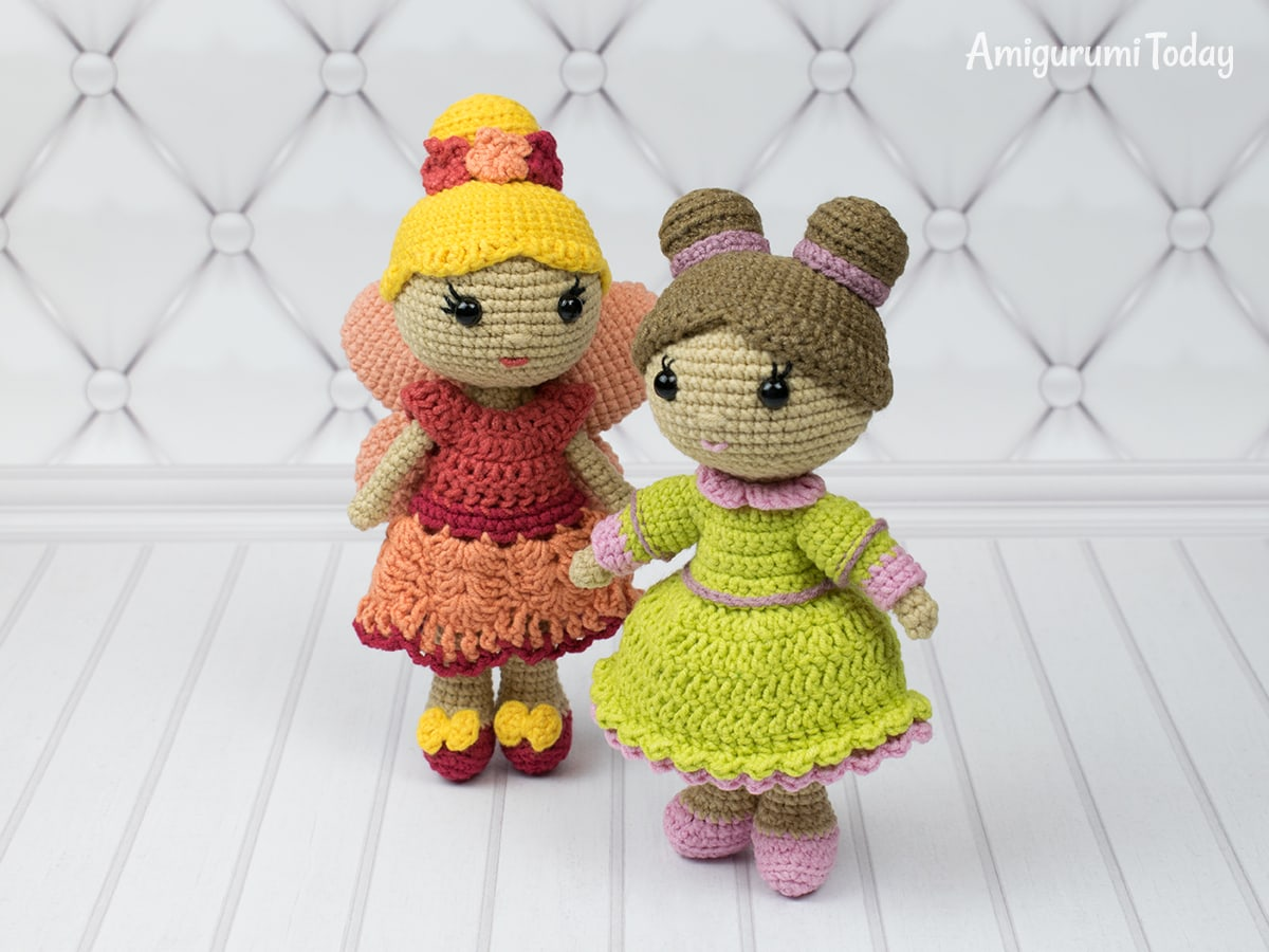 Little lady doll - Free crochet pattern by Amigurumi Today