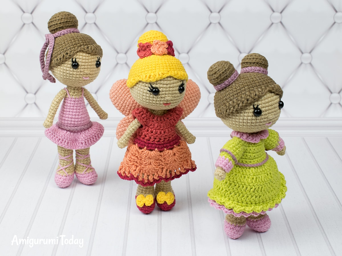 Little lady doll amigurumi -Crochet pattern by Amigurumi Today