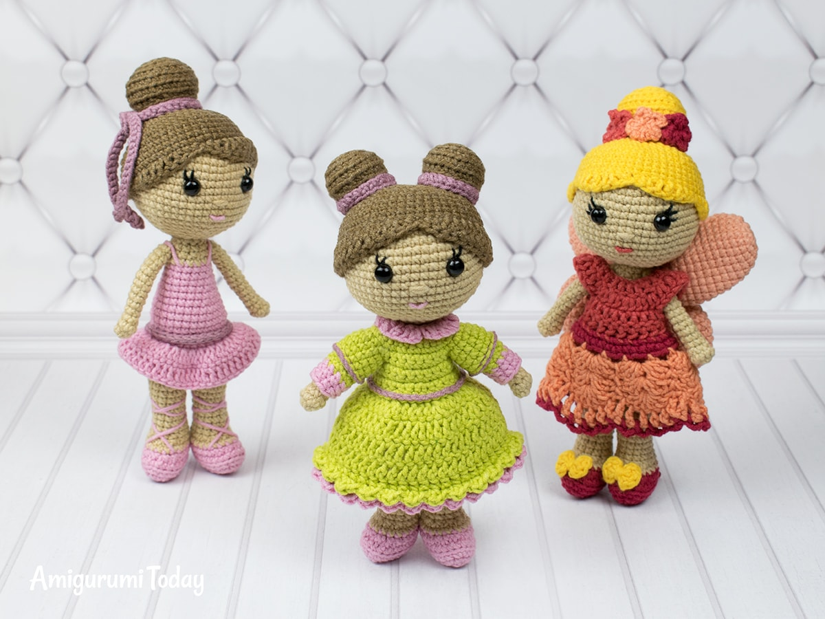 Little lady doll amigurumi pattern by Amigurumi Today