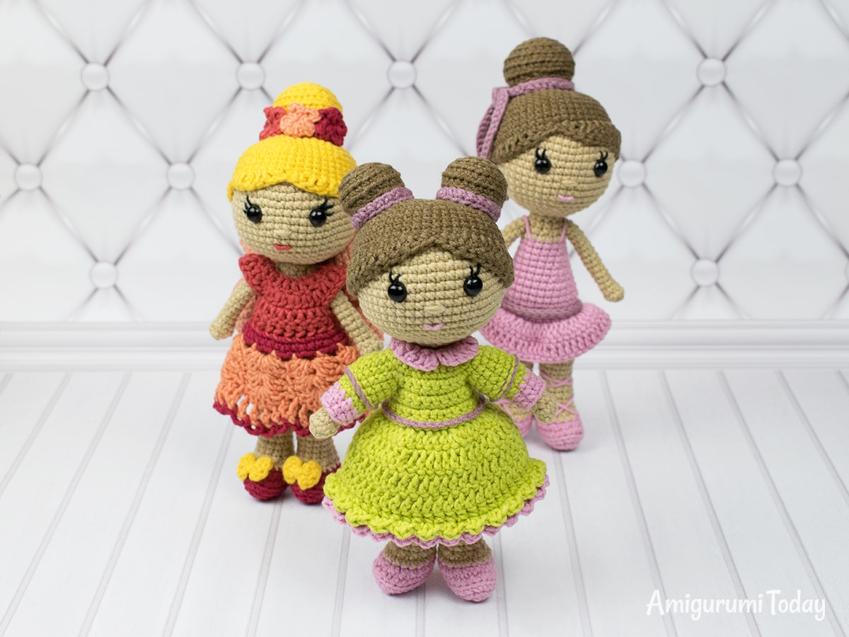 Little lady doll crochet pattern by Amigurumi Today