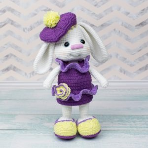 Amigurumi Pretty Bunny with beret and dress - Free Crochet Pattern - Amigurumi Today