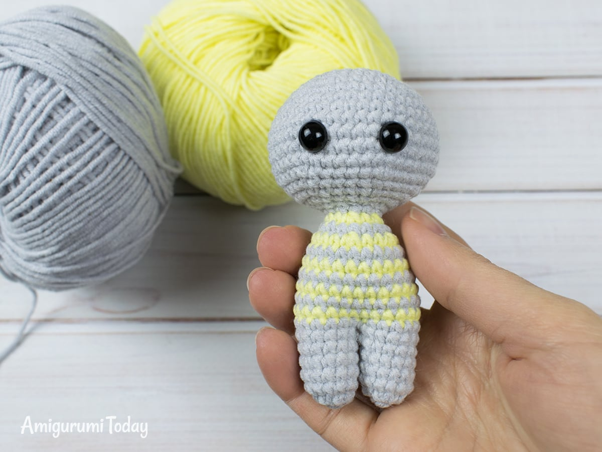 Free crochet animal patterns - Head-body-legs