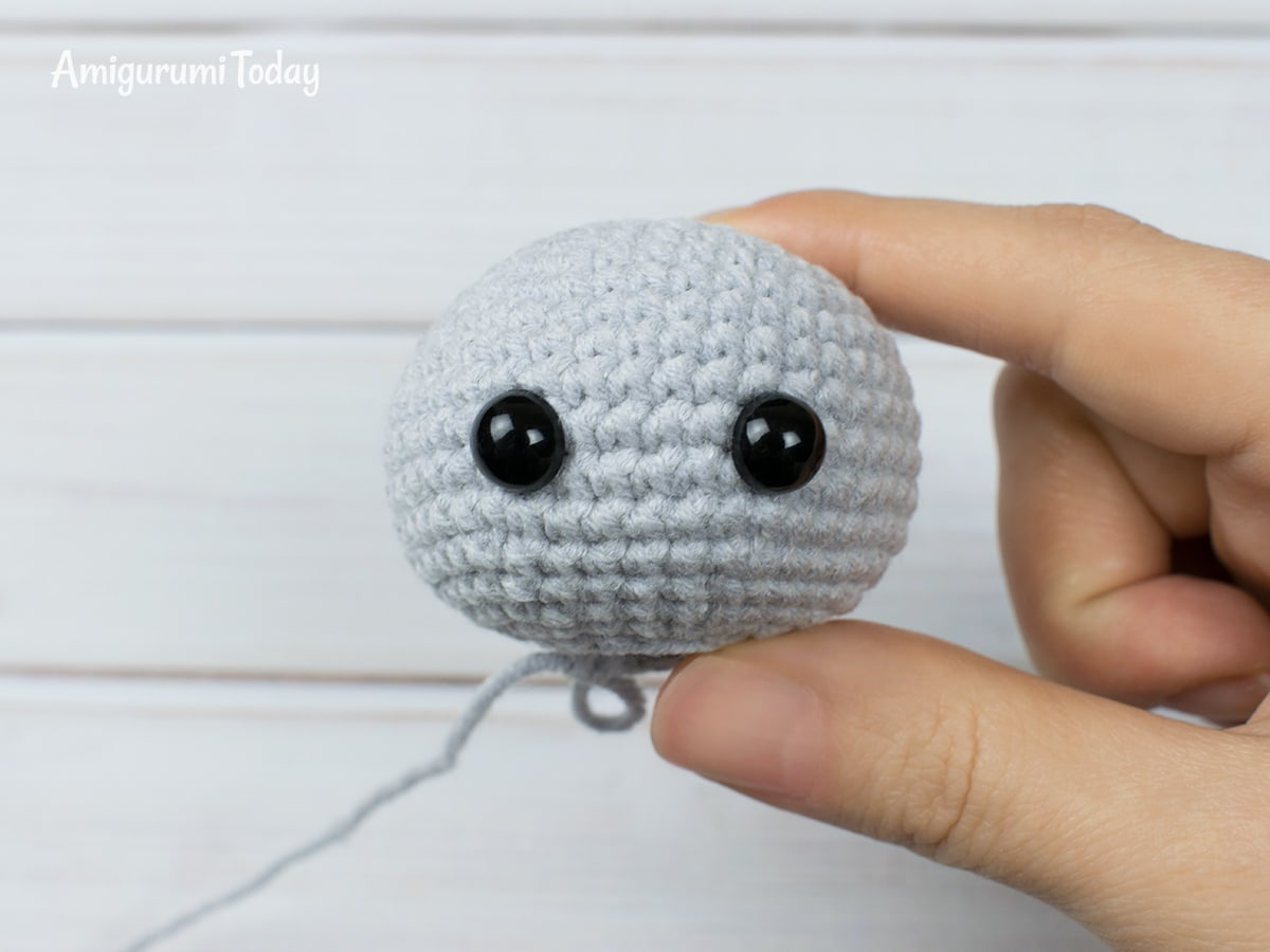Free crochet animal patterns - Head