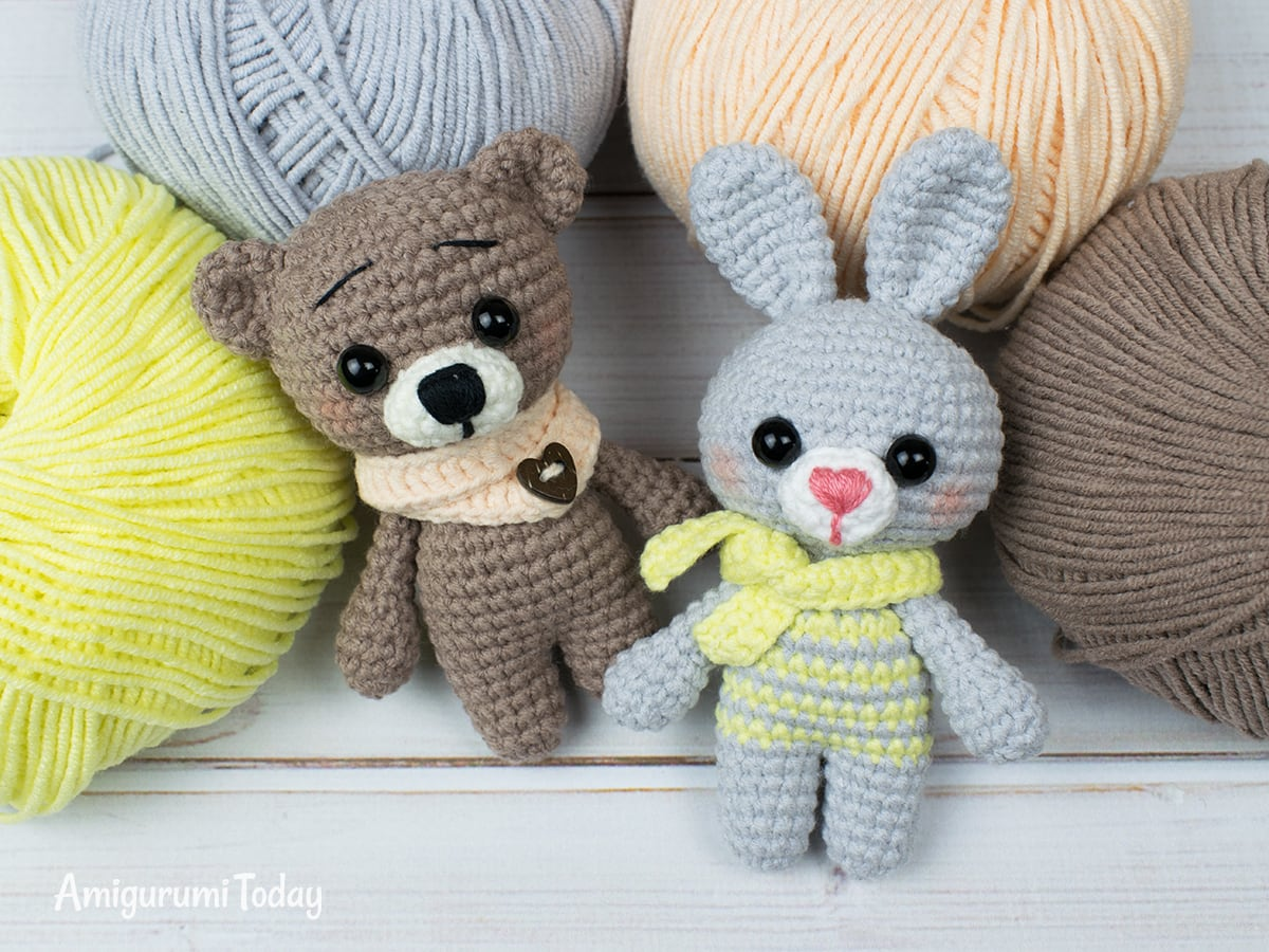 Free crochet animal patterns designed by Amigurumi Today