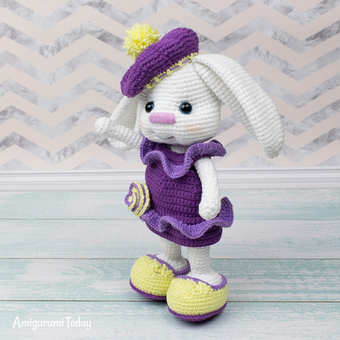 Pretty Bunny with floppy ears Crochet Pattern - Amigurumi Today