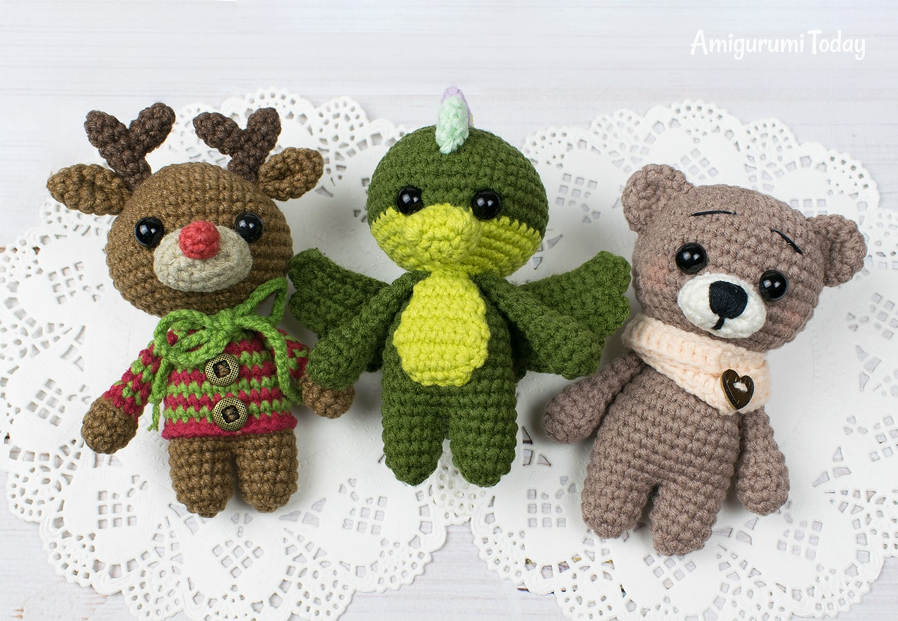 Free tiny animals crochet patterns by Amigurumi Today
