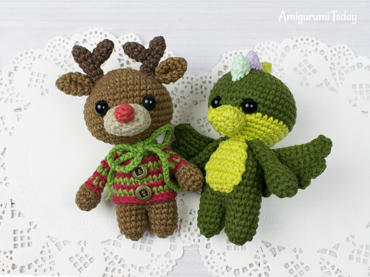 Free tiny dragon amigurumi pattern by Amigurumi Today