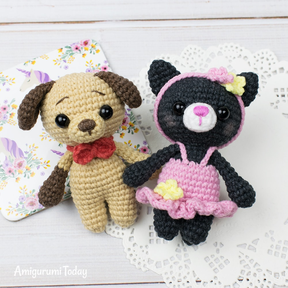 Tiny kitty amigurumi pattern by Amigurumi Today